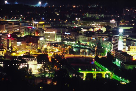 Saarbrücken bei Nacht