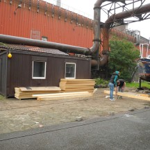 Bau des Holzhauses - Bild 1
