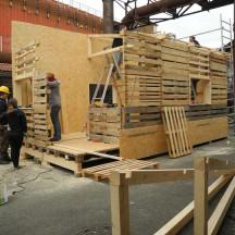 Bau des Holzhauses - Bild 11
