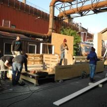 Bau des Holzhauses - Bild 9