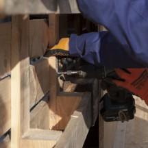 Bau des Holzhauses - Bild 12