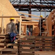 Bau des Holzhauses - Bild 15