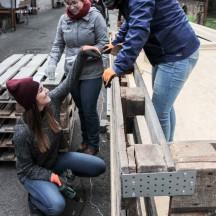 Bau des Holzhauses - Bild 13
