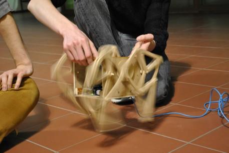 Der « Robot-Marcheur », ein Bild von Patricia Sanchez Maldonado