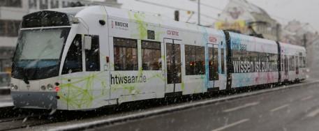 Am 15. Januar 2016 startet die neue htw saar-Saarbahn ihre erste offizielle Fahrt