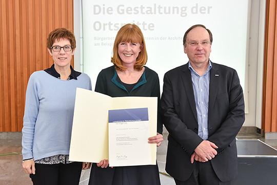 Gruppenfoto Preisträgerin Landeslehrpreis
