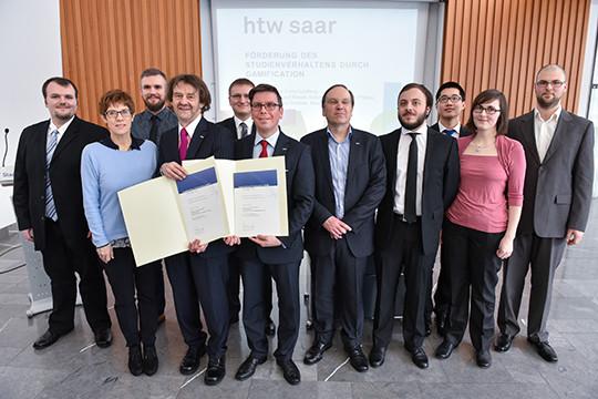 Gruppenfoto Preisträger Landeslehrpreis