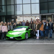 Gruppenbild bei Lamborghini