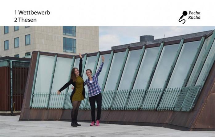 Die Abschlussarbeit von Annika André und Daniela Merten beschäftigte sich mit der Stadt Wolfsburg. André präsentierte beim Pecha-Kucha-Abend Bilder von ihrer Abschlussarbeit.