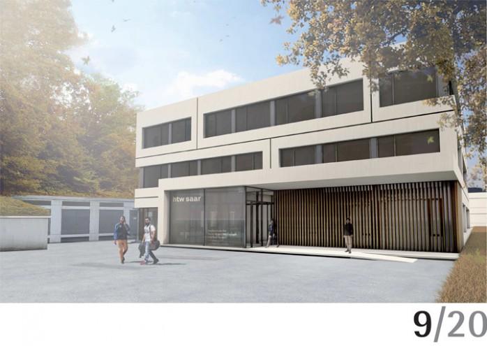 Fassadenvorschlag im Rahmen eines Wettbewerbs von Dipl.-Ing.-Architekten BDA Simon Kosiol für den Campus Rotenbühl.