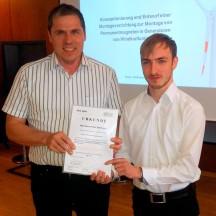 Simon Peter Hoffmann mit Prof. Rudolf Friedrich