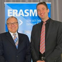 Prof. Dr. Holger Buck und Prof. Dr. Malte Beinhauer bei der Europe Week 2017.