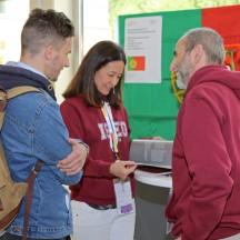 Die Study Abroad Fair ist eine gute Gelegenheit Dozierende ausländischer Hochschulen persönlich kennenzulernen.