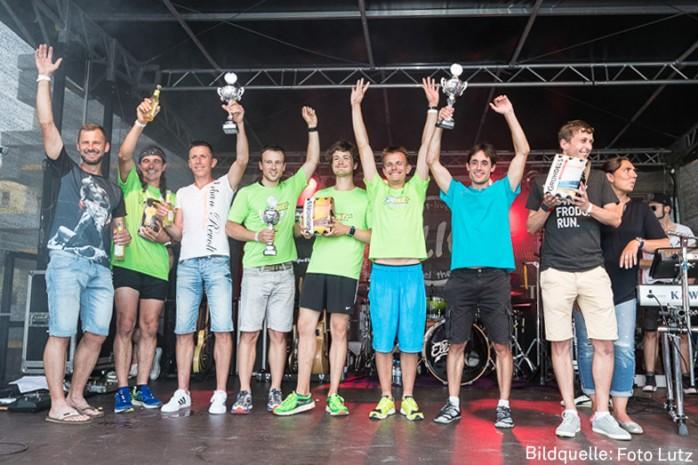 Siegerteams beim Firmenlauf Homburg 2017. Fotoquelle: Foto Lutz