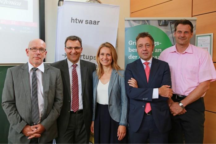 v.l.n.r. Jürgen Lenhof, Georg Maringer, Natascha Pavlovic, Prof. Dr. Markus Münter, Prof. Dr. Andy Junker
