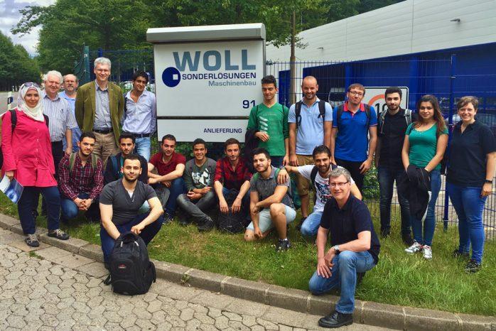 Unternehmensexkursion bei Woll Maschinenbau in Saarbrücken