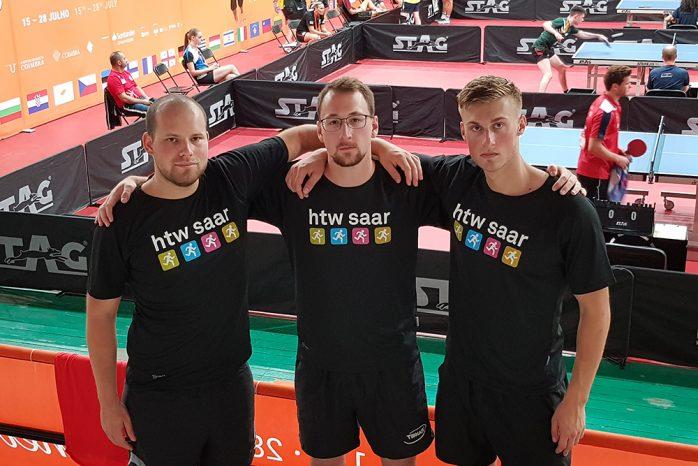 Gruppenfoto Tischtennis-Team der htw saar
